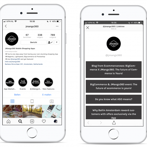 Mobile Shopping Instagram Shopping Linktree