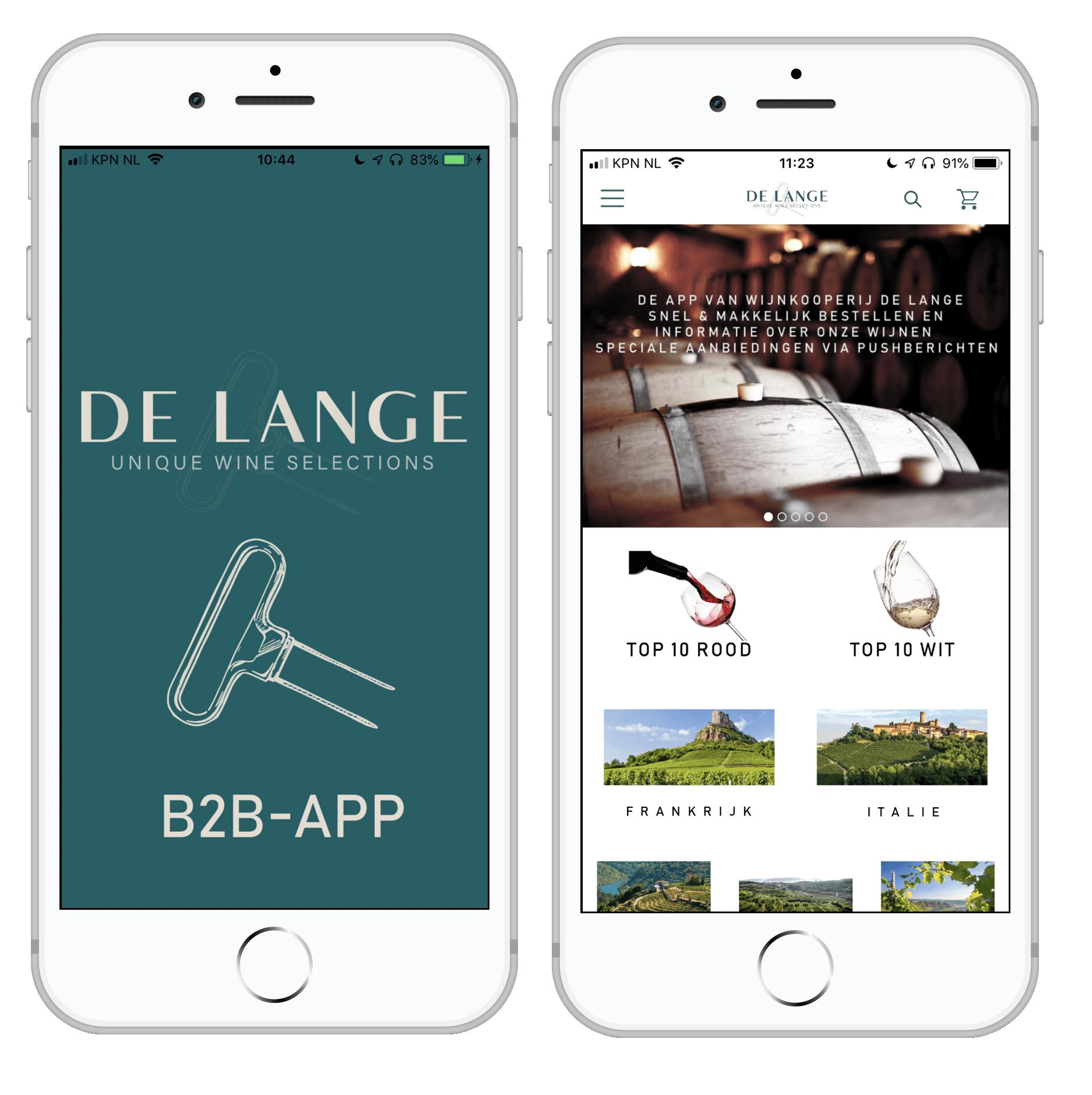 Wijnkoperij de lange app